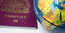Globe and passport - international law
