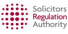 The logo of the Solicitors Regulation Authority