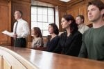Jury sitting in a courtroom
