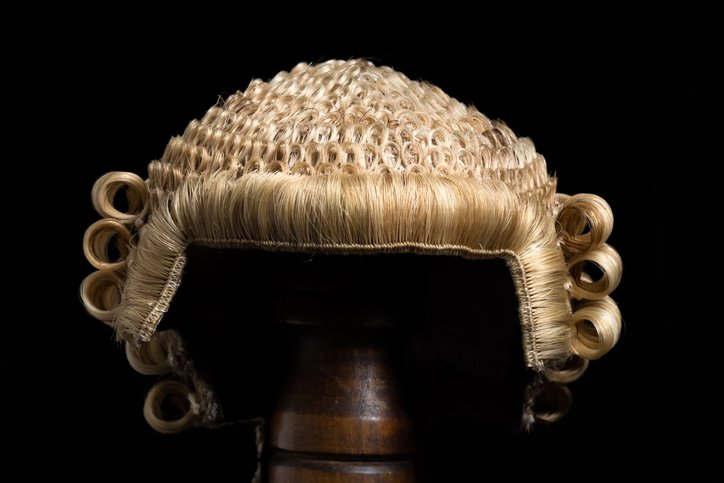 Barrister wig close up