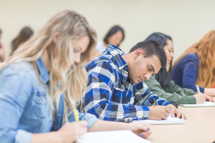 Students taking LPC exams